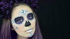 sugar skull halloween makeup tutorial re upload youtube