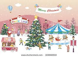 large christmas christmas winter vectorillustration stock vector