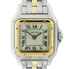 cartier watches bracelet images Cartier panthere two tone one row bracelet ladies watch jpg