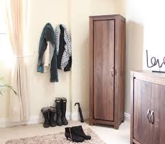 Tall Shoe Cabinet With Doors by Linea Solid Walnut Furniture Shoe Cupboard Cabinet Tall Hallway
