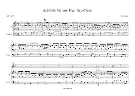 Color Of The Wind Ach Bleib Bei Uns Herr Jesu Christ Bwv 649 Bach Johann