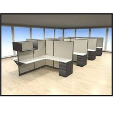 Curved L Shaped Desk Rsi Echo Curved L Shaped Desk Cubicle With High Panels And Open