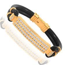 solid bracelet images 14k solid rose gold mens diamond id bracelet 3 00 ctw jpg