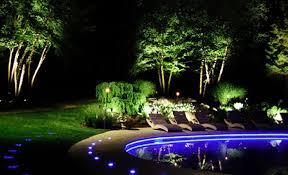 landscape lighting ideas blue led pool luxury backyard lights design