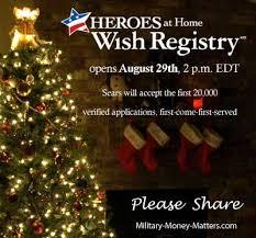 sears heroes at home wish registry