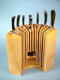 Creative Kitchen Knives Creative Idea Kitchen Accesories With Curved Brown Solid Wood
