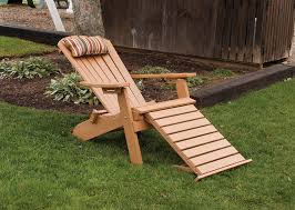Adirondack Chair With Ottoman Folding Reclining Poly Fanback Adirondack Chair W Pull Out