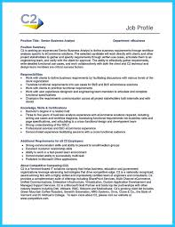 Sample Resume Objectives For Trainers by Business Analyst Functional Resume Free Resume Example And