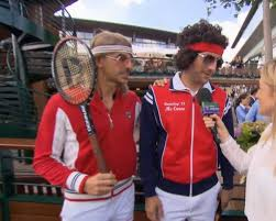 urban meyer halloween mask two fans went to wimbledon in flawless bjorn borg and john mcenroe