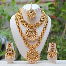 indian necklace set images Antique gold haram south indian style necklace set indian designs jpg