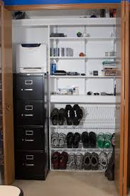 the closet after redoing it with a new filing cabinet shoe photo