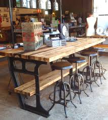 stupendous industrial kitchen island table with rustic wooden wine
