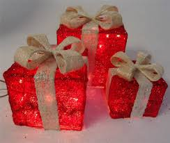 Decorative Christmas Boxes Light Up by Christmas Decorations Light Up Presents U2013 Decoration Image Idea