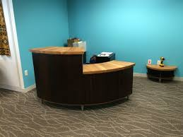 Custom Reception Desk by A Drauglis Artisan Handcrafted Wood Furniture Washington Dc