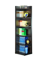 Narrow Black Bookcase Black Wooden Bookcase Cyberplant Info