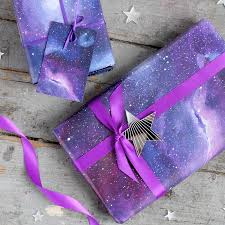 galaxy ribbon galaxy gift wrapping set by thumbs up notonthehighstreet