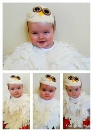Snowy Owl Halloween Costume by No Sew Baby Owl Costume Loves Glam