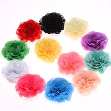 flowers for headbands 100pcs fabric flowers for headbands artificial decorative flowers