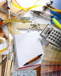 Interior Design Notebook by Architect Or Interior Designer Workplace Desk With Spiral Notebook