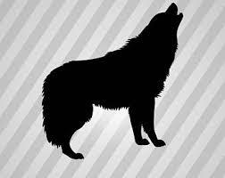 belgian shepherd howling howling wolf stencil etsy