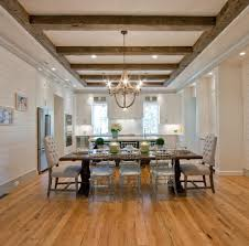 Dining Room Ceilings Wood Beam Ceilings Living Room Rustic With Wide Plank Vaulted
