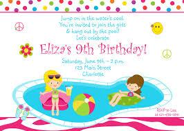 Sample Of Birthday Invitation Card For Kids Pool Party Invitations Templates Ideas Invitations Ideas