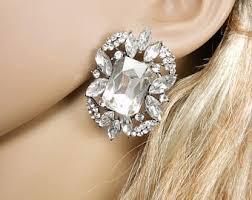 large stud earrings bridal stud earrings etsy