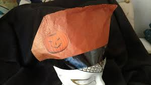 crepe paper halloween party hat vintage 1920 u0027s jack o lantern