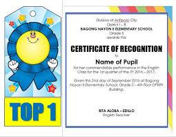 award certificate samples editable quarterly awards certificate template deped tambayan ph