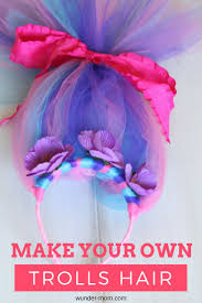 make your own trolls hair headband halloween costumes costumes