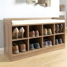 Shoe Storage Bench Hallway Bench Furniture Fabric Seat Wooden Shoe Storage Cabinet 8