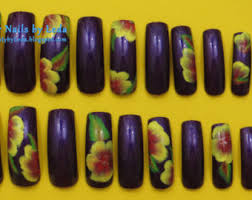 hand painted nails etsy