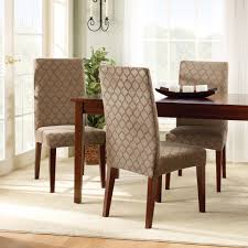 Ideas For Parson Chair Slipcovers Design White Fabric Dining Chair Cover With Length Skirt