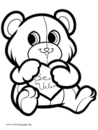rate valentine bear coloring pages 15 valentines 2
