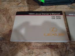 lexus maintenance manual 1998 lexus gs300 gs400 owner u0027s manual set with case 162340835642
