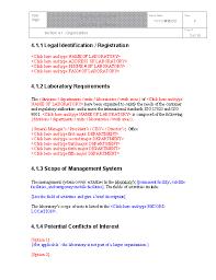 doc 485629 quality manual template u2013 iso 17025 quality manual