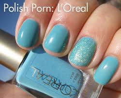 nail polish l u0027oreal not a cloud in sight we heart this