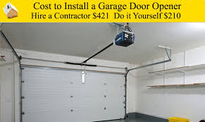 how to install garage door springs cost to install a garage door opener youtube