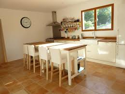 freestanding kitchen island unit there are two large freestanding island units with solid oak tops