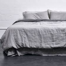 grey duvet cover 100 linen cover in cool grey in bed store