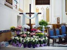easter church decorations easter decorations for church closeup of st stanislaus kostka s