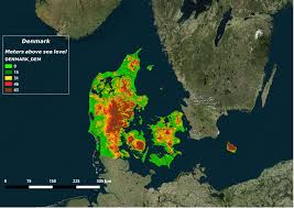 denmark digital elevation model weather and climate change