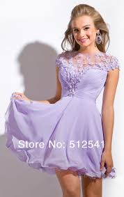 short sleeves cheap purple homecoming dresses sheer mini a line