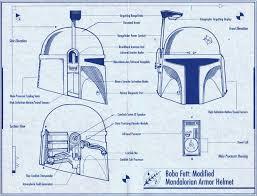 boba fett costume spirit halloween riddell helmet blueprints star wars fett pinterest helmets