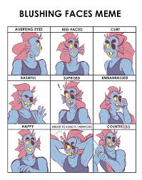 Blushing Meme - blushing meme undyne by forkeyes on deviantart