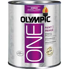 shop olympic one tintable eggshell latex enamel interior paint and