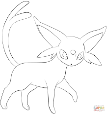 espeon coloring free printable coloring pages