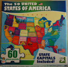 United States Learning Map by 50 Usa United States Of America Map Puzzle W State Capitals 60 Pc