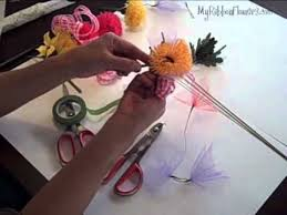 How To Make Corsages And Boutonnieres How To Make Ribbon Flower Corsage Boutonniere And Hair Piece