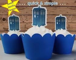 tardis cake topper 538 dr who tardis edible wafer cupcake cake toppers standup
